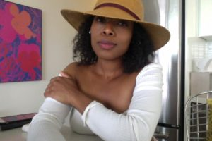 Summer Protective Style with Hat Accessory